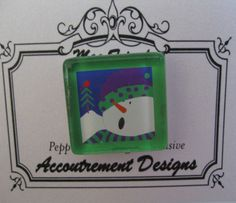 Accoutrement Designs Snowman Cardinal Needle Minder Magnet Pepperberry SN06-M #AccoutrementDesignsPepperberryExclusive