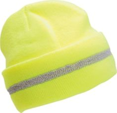 7e927130320 2 pack Yellow Safety Winter Beanie Knit Cap Lime HI Viz OSFA Rated Fast  SHIP