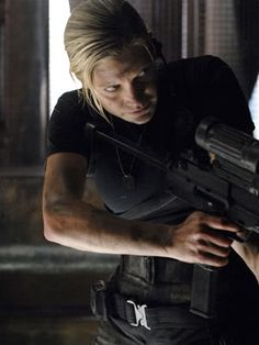 Oh how I frakkin lurve her. So say we all! Kara Thrace aka Starbuck aka Harbinger of Death