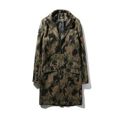 Mens Overcoat Long Trench Coat Men 2016 Autumn Camouflage Men Trench Coat Wool