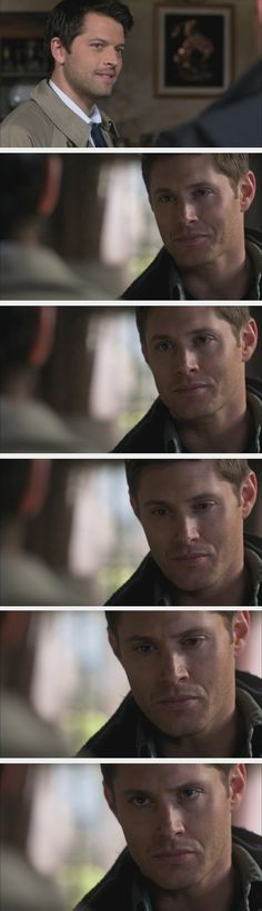 That heartbreaking moment when Dean realizes that Cas is lying. 6x20 #TheManWhoWouldBeKing #Castiel #DeanWinchester