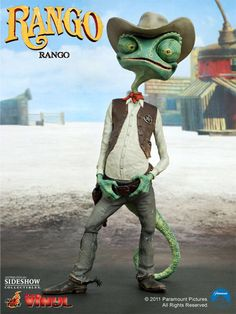 Sideshow Collectibles proudly presents the Rango Vinyl Figure from the upcoming Johnny Depp animated film, part of Hot Toys' Movie Masterpiece Series of Vinyl Figures. The Rango figure features detail Rango Movie, I Movie, Disney Pixar, Dreamworks, Animated Movie Posters, Beautiful Landscape Photography, Fandom Crossover, Sideshow Collectibles, Disney Wallpaper