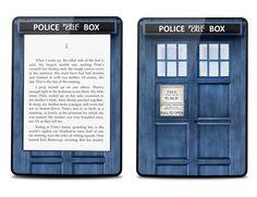 Amazon.com: Skunkwraps Decorative Skin Decal for Kindle Paperwhite - Police Box: Electronics