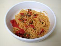 I Believe I Can Fry: Pasta Puttanesca
