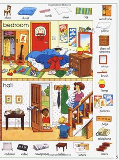 Bilingual Books About Rooms In A House For Kids
