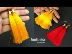 Tassel earrings | How to make silk thread Tassel earrings at home | step by step | jewellery making - YouTube