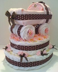 Diaper cake- This is so adorale