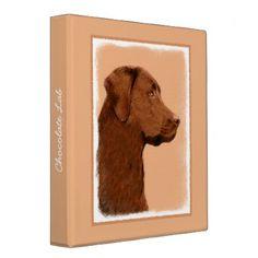 #Labrador Retriever (Chocolate) Binder - #labrador #retriever #puppy #labradors #dog #dogs #pet #pets