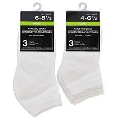 Kids' White No-Show Socks, 3-Pair Packs