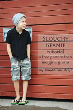 sew: slouchy beanie free pattern for babies, kids, and adults || imagine gnats