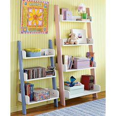 Children's 3 tier shelf in blue
