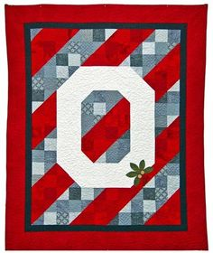 Red Rooster Quilts: Shop   Category: Scarlet and Gray - Ohio State   Product: OSU Champions Quilt Pattern