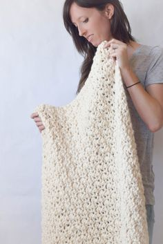 Chunky Crochet Blanket Free Pattern