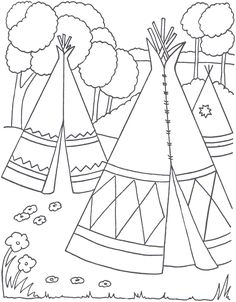 Cowboys and Indians Coloring Pages   Indian Coloring Pages - Coloringpages1001.com