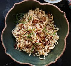 Sesame Noodles with Chili Oil and Scallions Recipe - Bon Appétit