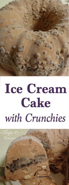 This Homemade Ice Cream Cake with Crunchies is super simple to make. I love easy desserts and this is one that you can adapt with your favorite flavors (both ice cream and mix-ins)!