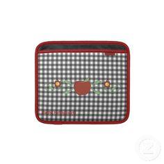 Chic Teacher's Checkered Custom iPad Sleeve