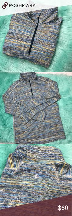 Men's lululemon surge half zip sz large SOLD OUT Style is called surge no tag but based on measurements it's a size large. Chest 42 inches and shoulder to hem 29 inches. No rips, no stains, or no fuzzing practically still brand new! SOLD OUT ONLINE! Color is called space dye camo deep navy Alberta lake lululemon athletica Shirts Sweatshirts & Hoodies