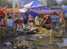 Orley Ypon - After The Rain, oil on canvas, 48 x 36 inches Filipino Art, Philippine Art, Fine Arts College, Painting Competition, Pastel Portraits, Old Master, Event Calendar, Figure Painting, Contemporary Paintings