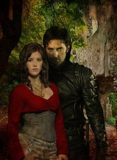 Richard Armitage and Lucy Griffiths.  The colors here are worthy of painting