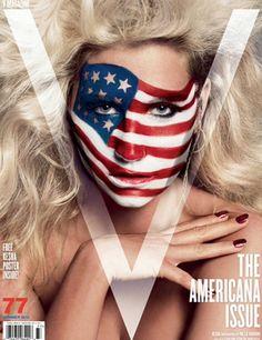 American flag make up by kesha