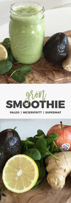Recept: Grön morgon smoothie. Paleo, mejerifritt!