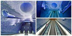 La bellissima stazione di Toledo nella metro di #Napoli