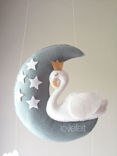 Your place to buy and sell all things handmade Bird Mobile, Cloud Mobile, Mobile Baby, Mobiles, Creations, Swan, Handmade Gifts, Motivational, Neutral