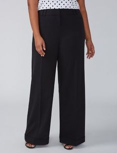 92d5d3dc51 Allie Tailored Stretch Wide Leg Pant - Cuffed