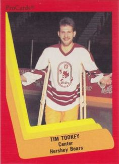 Tim Tookey of the AHL's Hershey Bears - the John B. Sollenberger Trophy winner in 1986-87 and a member of the AHL Hall of Fame.