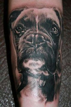 Boxer Tattoo. This is great. Typically I don't like tattoos but I'll make an exception for this one. I want one. :-)