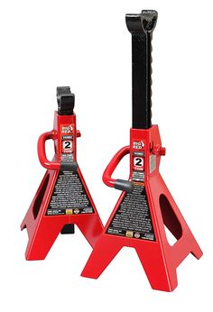 Torin Big Red Steel Jack Stands: 2 Ton Capacity, 1 Pair - Automotive Parts and Accessories Chevrolet Cobalt, Lifted Cars, Car Tools, Garage Tools, Garage Shop, Best Dj, Oil Change, Small Cars, Amazing Cars