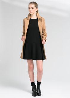 Flared ponte dress