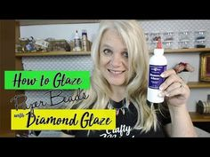 How to Use Judikins Diamond Glaze on Paper Beads Make Paper Beads, Paper Bead Jewelry, How To Make Paper, How To Make Beads, Paper Beads Template, How To Get Thick, Handmade Beads, Girl Scouts, Jewelry Findings