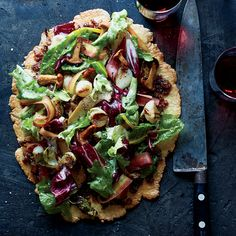 Free-Form Autumn Vegetable Tart with Bacon Marmalade Recipe - Timothy Hollingsworth   Food & Wine