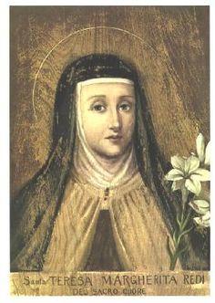St. Teresa Margaret Redi OCD  holy card and prayer