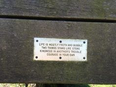 Twitter / fleurtopia: found this on a bench ...