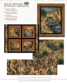 Here is just a deluxe cotton quilting fabric panel by artist ... : wildlife quilt fabric - Adamdwight.com