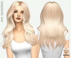 Enchantress hair for The Sims 4