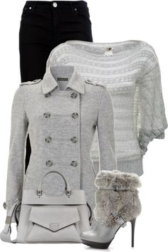 """Grey and Black"" by fashion-766 on Polyvore"