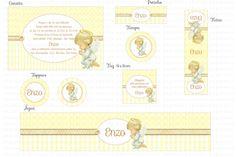 Kit Digital Batizado Anjinho - Amarelo e Branco