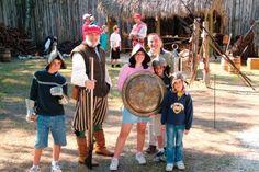 Families can learn about Hernando De Soto's 1539 landing in Florida at the De Soto National Memorial in Bradenton.
