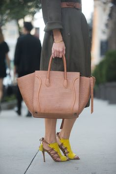Pin for Later: The Street Style Accessories That Stopped Traffic at Fashion Week New York Fashion Week A natural, classic Céline bag to complement a pair of striking Aquazzura shoes.