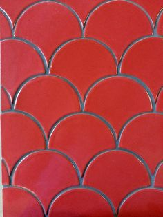 Classic Tile & Mosaic - Dragon Scale ceramic tile, a fish-scale pattern available in more than 100 hues