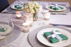 Tiffany inspired table setting. For recipes, ideas & more, follow me @sosweetbites on Imstagram.