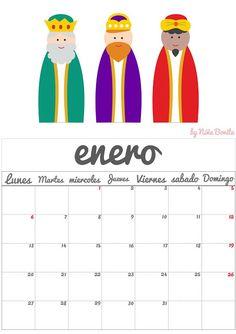 Imprimible: Calendario 2014 Niña Bonita