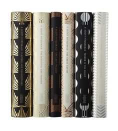 F. Scott Fitzgerald (Penguin Hardback Classics), $13-$17 each - Amazon. Shown: Flappers and Philosophers, The Beautiful and the Damned, The Last Tycoon, The Great Gatsby, Tender is the Night and This Side of Paradise. Another collection designed by Coralie Bickford-Smith, the covers of these books are intended to evoke the jazz age of Fitzgeralds stories, while materially, the combination of metallic foil and matte paper is designed to feel good in the hand as well as look good on the shelf.
