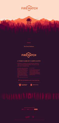 Firewatch parallax web design