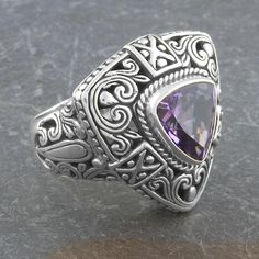 Shop for Handmade Sterling Silver Amethyst 'Cawi' Ring (Indonesia). Get free delivery On EVERYTHING* Overstock - Your Online Jewelry Destination! Get in rewards with Club O! Silver Pendant Necklace, Sterling Silver Necklaces, Silver Earrings, Discount Jewelry, Gold Plated Rings, Best Jewelry Stores, Handmade Sterling Silver, Bridesmaid Jewelry, Turquoise Jewelry