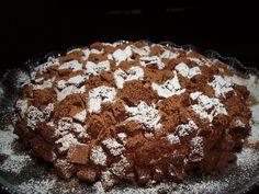 Torta alla mousse di cioccolato a quadretti - mimosa al cacao - torta scacchiera -